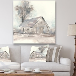Designart 'Farmhouse Barn Grey III' Modern Farmhouse Gallery-wrapped Canvas