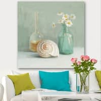 Designart 'Pastel Bath III' Nautical & Beach Canvas Art - Blue