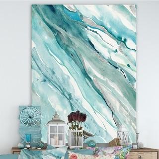 Designart 'Silver Springs II Blue Green' Nautical & Coastal Canvas Artwork