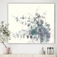 Designart 'Grey Watercolor Flower II' Traditional Canvas Artwork - Grey