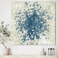 Designart 'Geometric Blue Spots' Modern & Contemporary Canvas Artwork