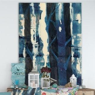 Designart 'Deep Woods II Indigo' Country Charm Premium Canvas Wall Art - Blue