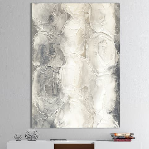 Designart 'Gray Circles I' Modern & Contemporary Premium Canvas Wall Art