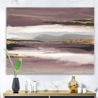 Designart 'Purple Glam Storm I' Glam & Shabby Chic Canvas Artwork - Purple