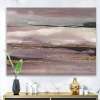 Designart 'Purple Glam Storm III' Glam & Shabby Chic Premium Canvas Wall Art - Purple
