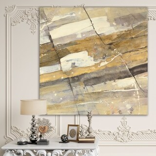 Designart 'Fire and Ice Minerals V' Modern & Contemporary Gallery-wrapped Canvas - Multi-color