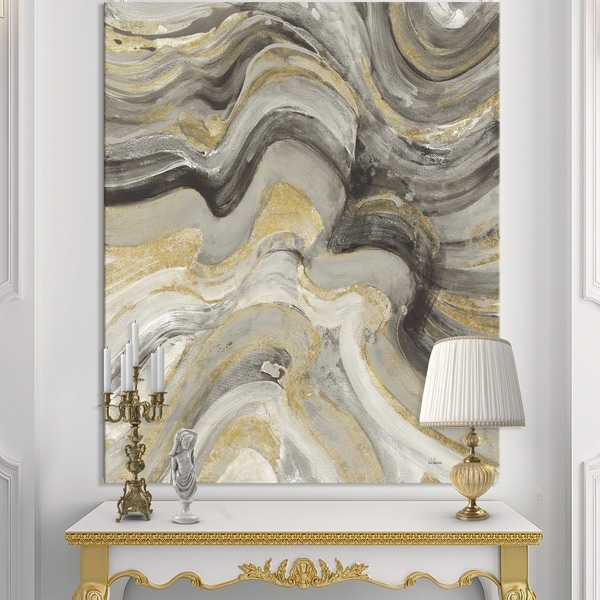 Designart 'Glam Gold Canion' Modern & Transitional Canvas Art - Multi-color