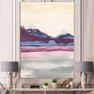 Designart 'Shabby Watercolor on Purple I' Shabby Chic Canvas Artwork