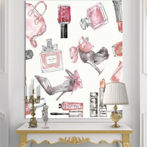 0d38da6da4fa Designart 'Glam Chic Accents Pattern I' Fashion Premium Canvas Wall Art -  Multi-