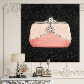 Designart 'Glam & Fashion Parfum Boudoir II' Posh & Luxe Canvas Artwork - Black