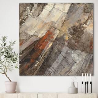 Porch & Den Fire and Ice Minerals III' Farmhouse Canvas Art