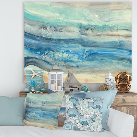 Porch & Den Ocean Mineral Waves' Canvas Art