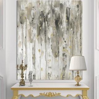 Designart 'The Modern Grey Forest IV' Farmhouse Premium Canvas Wall Art