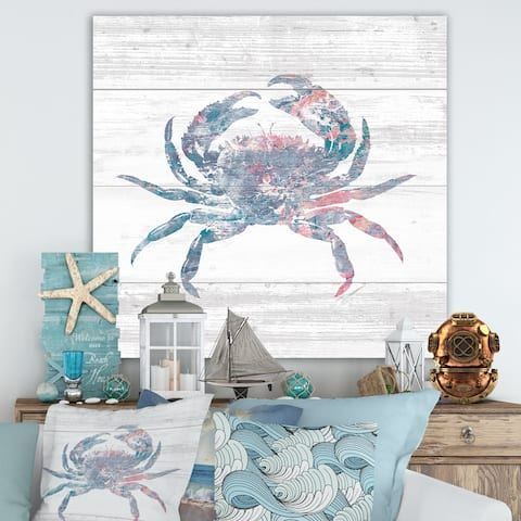 Porch & Den Pink Crab Ocean Life' Canvas Artwork