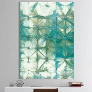 Carson Carrington Jamtbo 'Turquoise Watercolor geometrical III' Gallery-wrapped Canvas