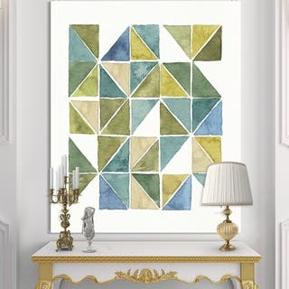 Carson Carrington 'Geometric Green Triangle I' Modern & Transitional Canvas Artwork
