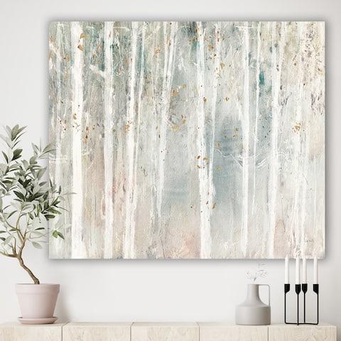 Porch & Den A Woodland Walk into the Forest III' Farmhouse Canvas Art - Grey