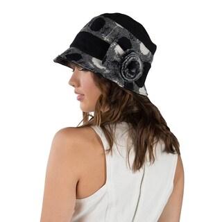 Aerusi Women Ella Wool Cloche Bucket hat