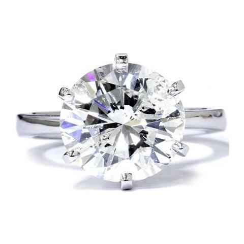 Pompeii3 14k White Gold 3ct TDW Clarity Enhanced Diamond Solitaire Engagement Ring