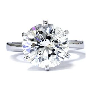 Link to Pompeii3 14k White Gold 3ct TDW Clarity Enhanced Diamond Solitaire Engagement Ring Similar Items in Wedding Rings