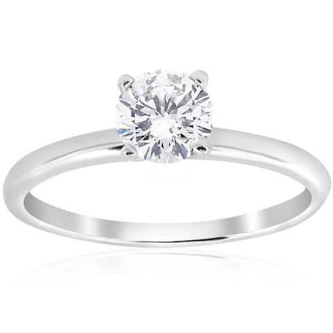 Pompeii3 14k White Gold 3/4 ct TDW Diamond Solitaire Engagement Ring