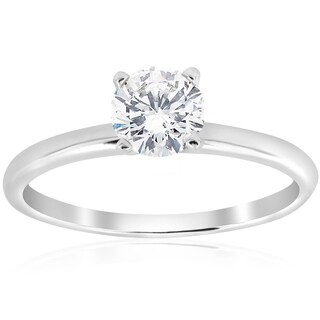 Bliss 14k White Gold 3/4 ct TDW Diamond Solitaire Engagement Ring