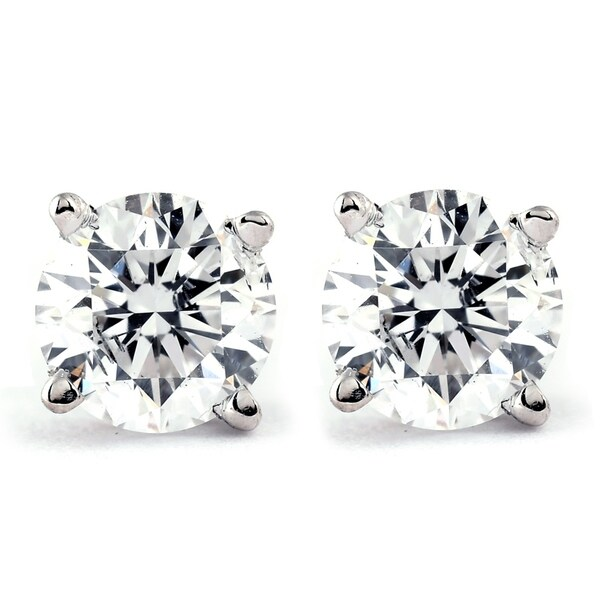 ed4aa6eef Shop Bliss 14k White or Yellow Gold 1 ct TDW Diamond Studs - On Sale - Free  Shipping Today - Overstock - 25709311