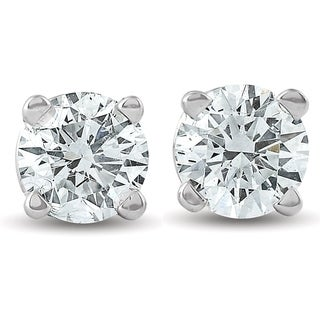 Pompeii3 14k White or Yellow Gold 1/3 ct TDW Diamond Studs