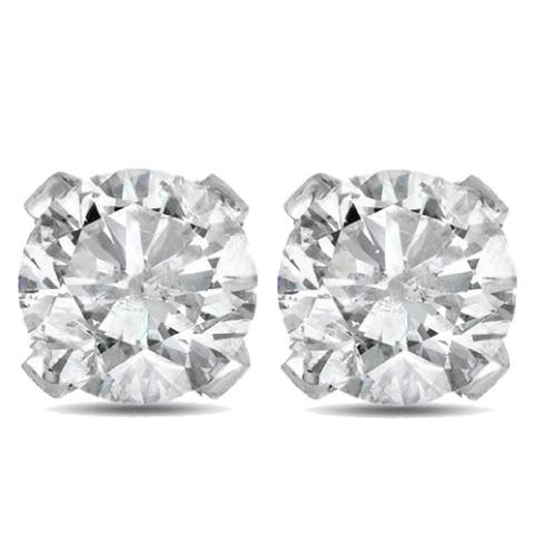 Pompeii3 14k White or Yellow Gold 1 1/2 ct TDW Diamond Studs
