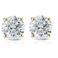 Pompeii3 14k White or Yellow Gold 3/4 ct TDW Diamond Studs