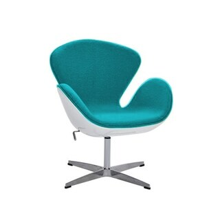 Swan Lounge Chair Swivel Height Adjustable, Wool Cashmere upholstery