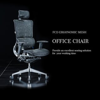 Deluxe Multi Function Executive Ergonomic Office Chair - Black