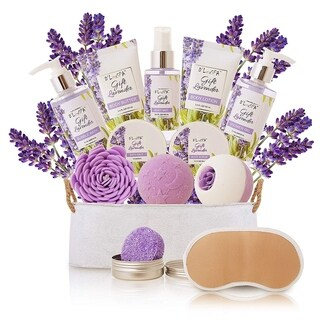 Ultimate Luxury Spa Gift Baskets For Women in Lavender Essence - Lavender - xL