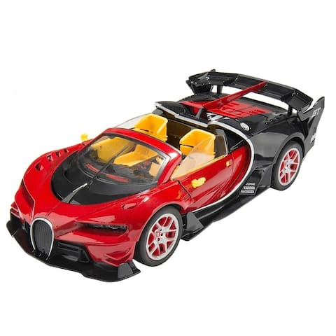 Remote Control RC Speedy European GT Series Convertible Sports Racer Flashing Lights and Graphics