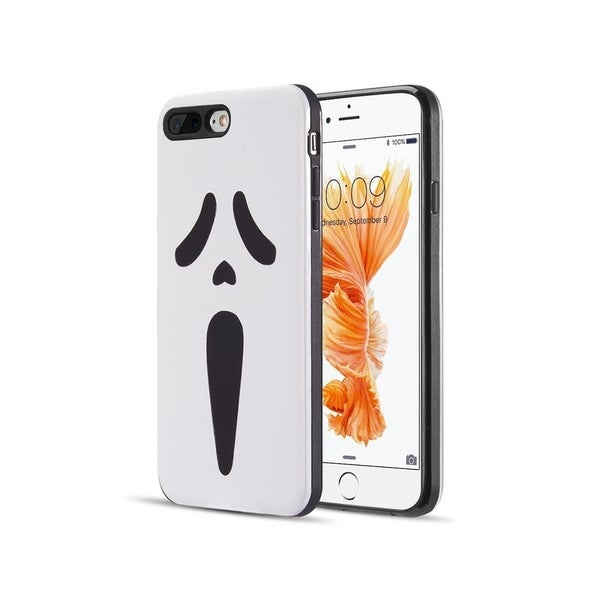 Insten White/Black Screaming Face Hard Snap-on Dual Layer Hybrid Case Cover  For Apple iPhone 6 Plus/6s Plus/7 Plus/8 Plus