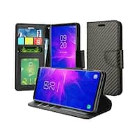 Insten Carbon Fiber Stand Folio Flip Leather Wallet Flap Pouch Case Cover for Samsung Galaxy Note 9