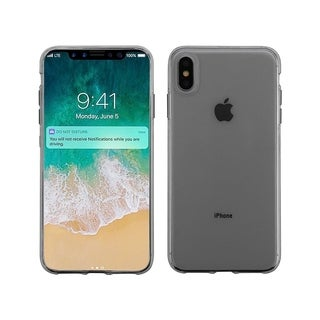 Insten Glossy TPU Rubber Candy Skin Transparent Case Cover for Apple iPhone XS Max