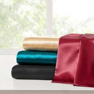 Link to Madison Park Essentials Satin Pillowcases - 2 Pack Similar Items in Bed Sheets & Pillowcases