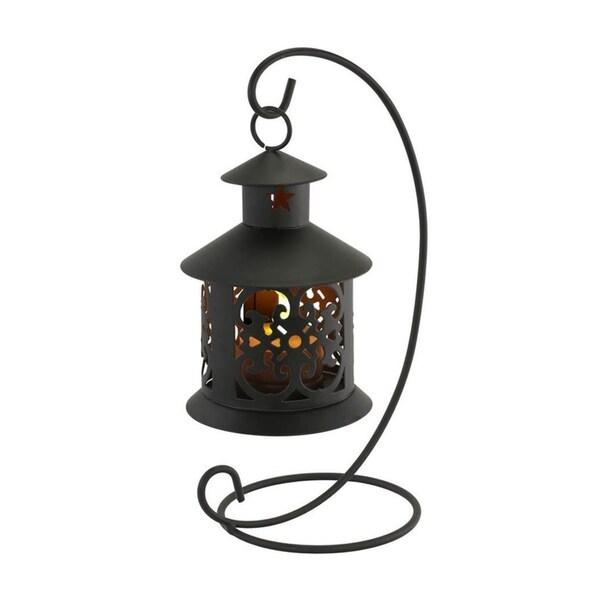 FineLife Contemporary Filigree Design Tabletop Flameless LED Tealight Hanging Lantern