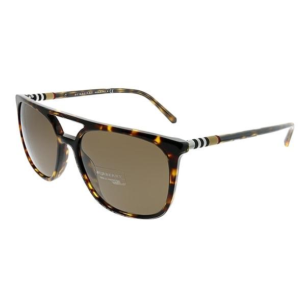 177dd420df7 Burberry Rectangle BE 4257 300273 Unisex Dark Havana Frame Brown Lens  Sunglasses