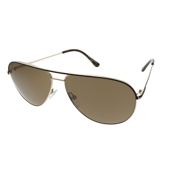 2dd67a8d5a7 Tom Ford Aviator TF 466 Erin 50J Unisex Brown And Gold Frame Brown Lens  Sunglasses