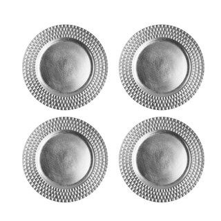 """linear charger plate silver set/4 13""""d"""