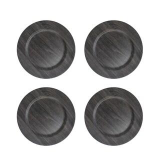 "poplar dark gray s/4 charger plate 13""d"