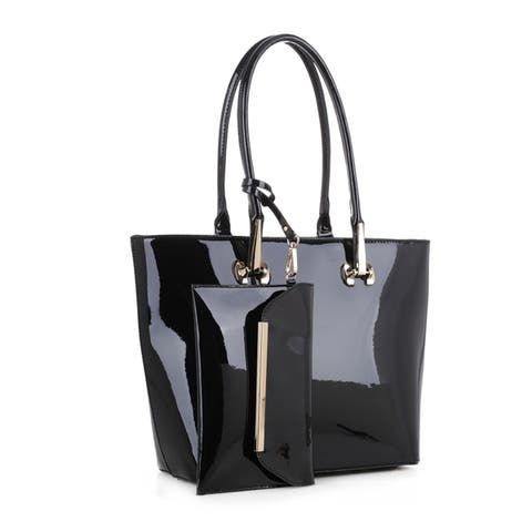 MKF Collection Tenesha Patent Tote with Wristlet by Mia K.