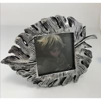 4x4 Leaf Silver Picture Frame