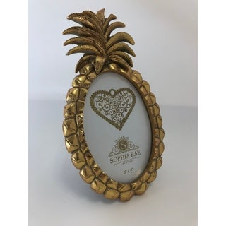 5x7 Pineapple Gold Oval Picture Frame