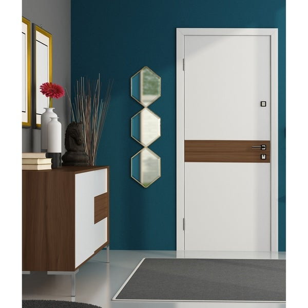 Kate and Laurel Roycen Metal Accent Wall Mirror - 10x42