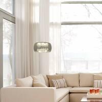 Decor Therapy Varsha Rain Chrome Glass/Metal Pendant Light