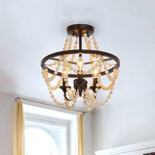 Buy Wood Finish Flush Mount Lighting Online At Overstock