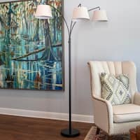 Ashbury 3 Arm Shaded Floor Lamp